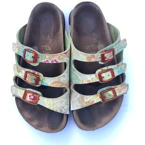 Birkenstock Papillio 3 strap sandals size 35